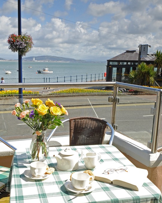 View from terrance at Ocean Living Care Home Swansea